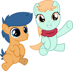 First Base and Peach Fuzz by CloudyGlow