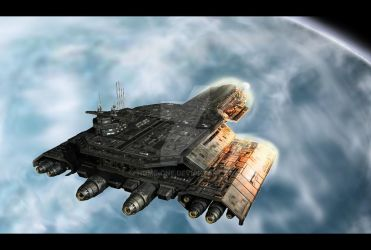Stargate BC304 through the atmosphere by home-one