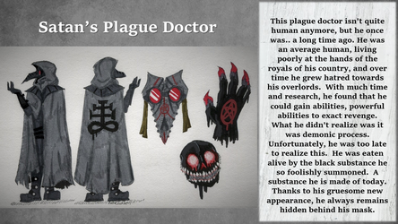 Satan's Plague Doctor (Commission) by AmberInkSpill