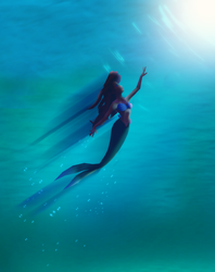 MMD Little Mermaid Poster by Domnics