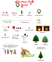 Christmas Stuff Sprites by SpriteGirl