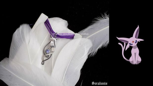 'Espeon', sterling silver pendant FOR SALE by seralune