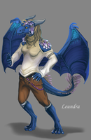 Leundra as anthro by Leundra