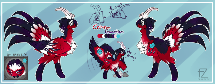 Crimson Guardian [Byubuu Mystery Baby -entry] by FluffZee