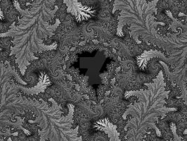 Mandelbrot in the fallen leaves by rahulmukerji