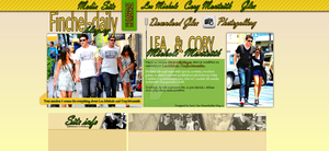 Lea Michele and Cory Monteith Layout by Lexigraphic