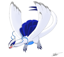 Mega Lugia by clinclang