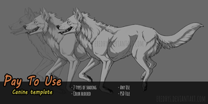 [P2U] Wolf/Canine Template - PSD File by Eredhys