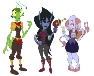 Space ladies by CousinTed