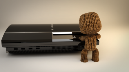 Sackboy and PS3 by TonyMakesModels
