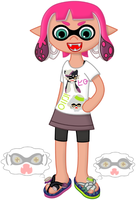 Commission: Callie and Marie the Flip-flops by P1nkApple