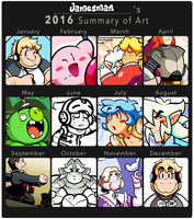 James's Art Summary of 2016 by JamesmanTheRegenold