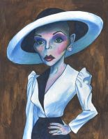 Joan Collins in Dynasty by Caricature80