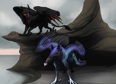 Scouring the Shore by Onyxeva