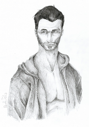 David Gandy a.k.a. How not to draw with graphite by DarthFelis