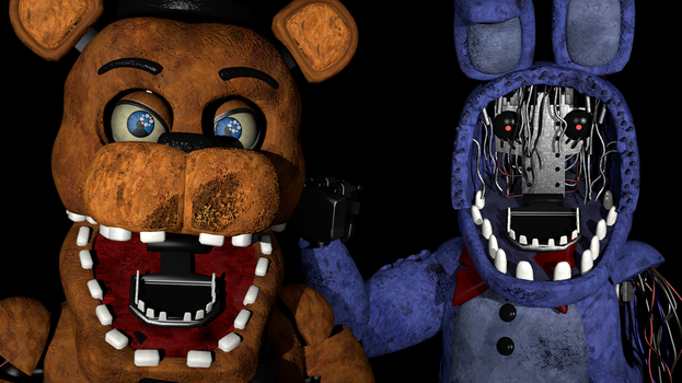 Withered Freddy VS. Withered Bonnie (Remastered) by zabuza2000momochi