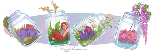 Spyro Jar Stickers by thehappygirl