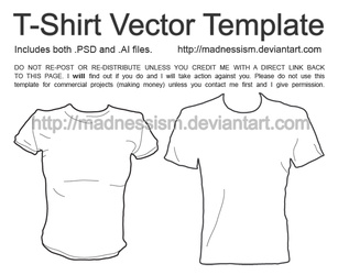 T-Shirt Vector Template by madnessism