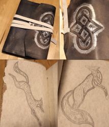 Leather Fox Journal Commission by SilverHauntArmoury