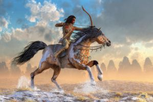 Archer on Horseback by deskridge