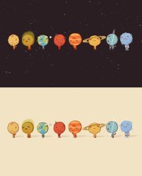 Solar System wallpapers by AnnekaTran