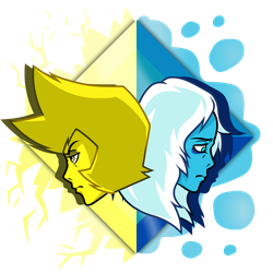 Yellow and Blue w/ Aura by Woogigooie