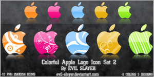 Colorful Apple Logo Icon Set 2 by Evil-Slayer