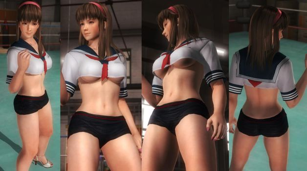 Hitomi school hotpants by funnybunny666