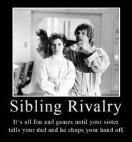 Star Wars Sibling Rivalry by brainhiccup