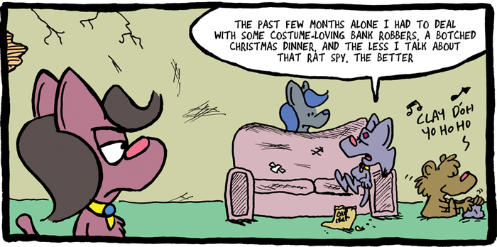 THE FUZZY PRINCESS (3-19-2018) by bakertoons