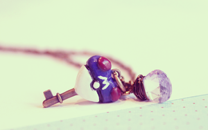 Master Ball HeartKey Necklace by WaterGleam