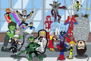 Teen Avengers and Spider-Man VS Sinister Six by MCsaurus