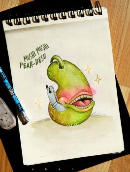 Moshi moshi Pear-desu by SHANTA-art