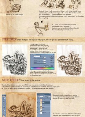 Old-Paper-Look Tutorial by princendymion