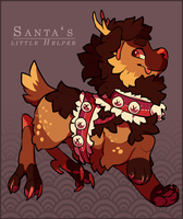 [auction | closed ]  santa's little helper by Lusomnia
