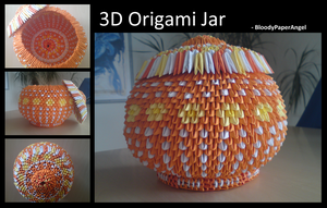 3D Origami Jar by BloodyPaperAngel