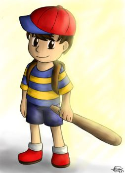 Ness from Earthbound by StarlightPhoenixDS