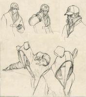 Watch_Dogs sketches by CavalierediSpade