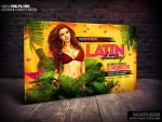 Latin Night Horizontal Flyer Template by Industrykidz