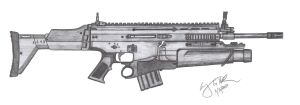 FN MK.17 SCAR-L by CzechBiohazard