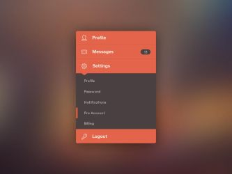 Freebie: Flat Accordion by PSDchat