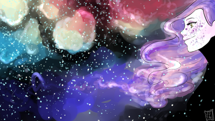 Galaxy girl by Jellygraphic