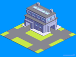 Isometric pixel art style infographics animation by m7