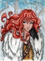 Ygritte, kissed by fire by Byrsa
