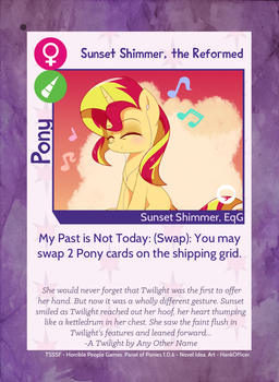 Pony Card - Sunset Shimmer the Reformed 1.0.7 by MLP-NovelIdea