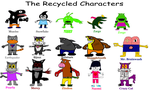 The Recycled Characters (Old Drawings) by TwistedDarkJustin