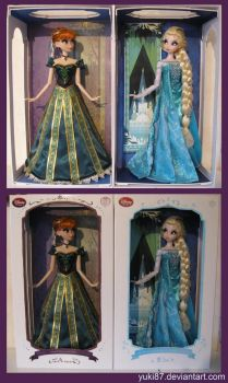 OOAK Limited Edition Anna and Elsa by Yuki87