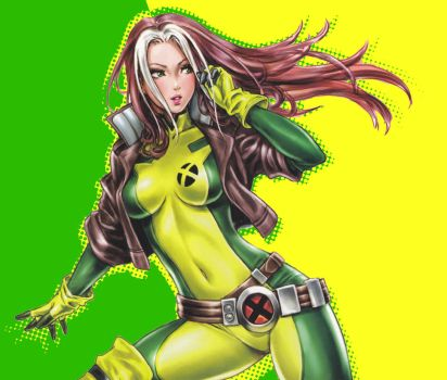 Rogue Green-Yellow Wallpaper by Nabucodorozor
