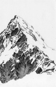 Inktober 2017 n15 - Annapurna mountain by Sorka-of-Eawy
