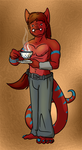 Anthros Drinks Tea by Morgoth883